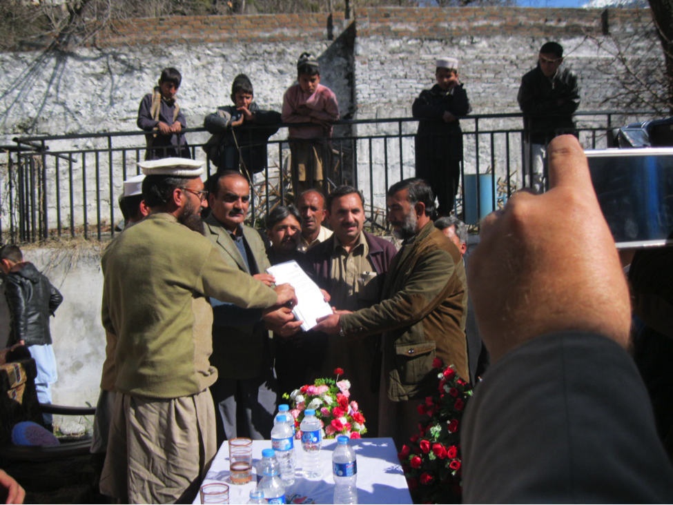 Inauguration of Irrigation Channel
